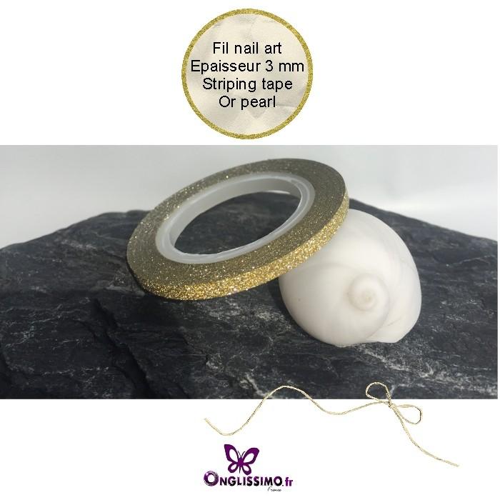 Fil nail art or pearl autocollant 3mm