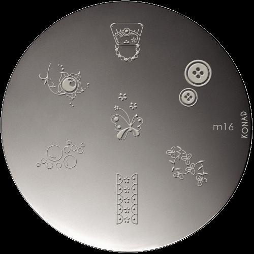 Plaque stamping Konad M16