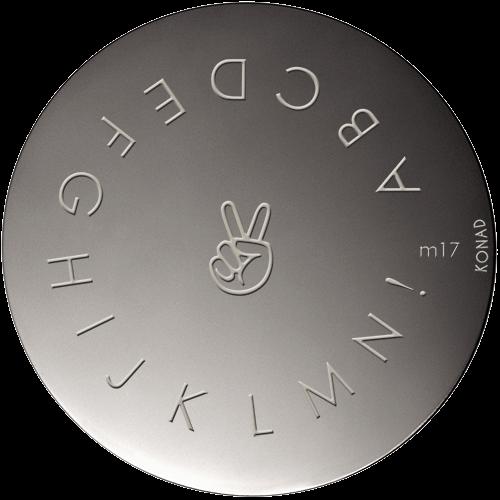 Plaque stamping Konad M17
