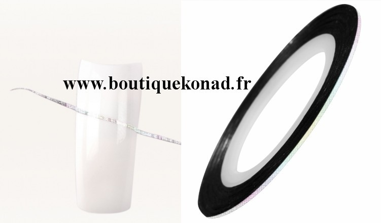 Fil argent holo pour ongle striping tape n°23