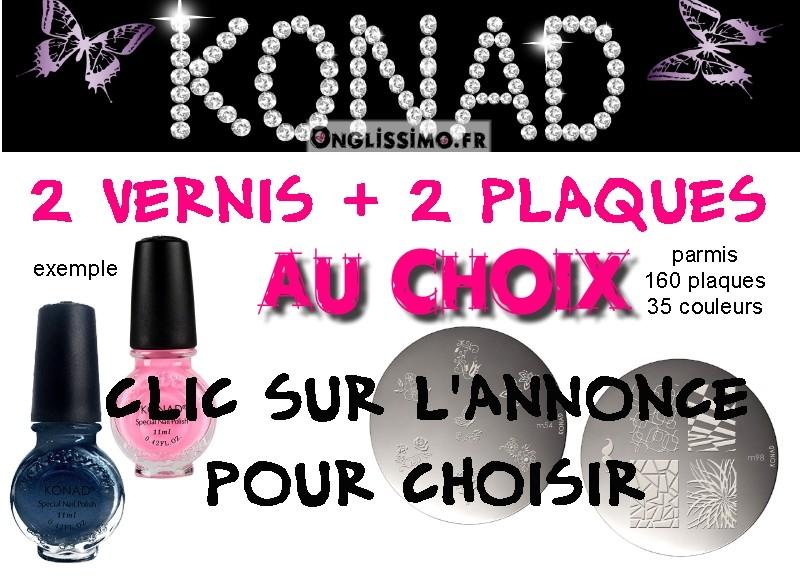 Stamping Lot de 4 produits Konad au choix