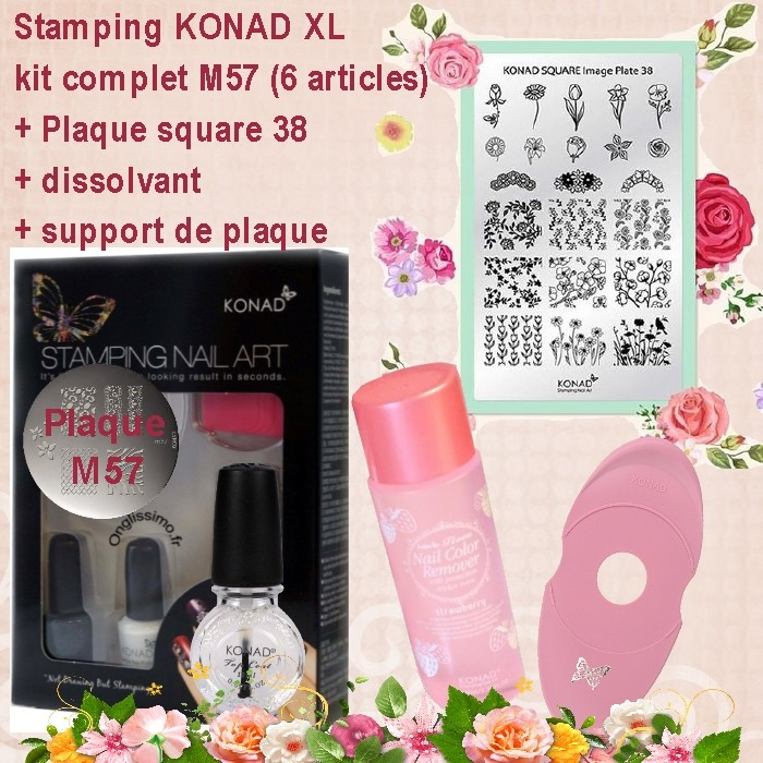 Kit stamping 9 articles Konad M57-SQ38-support-disso