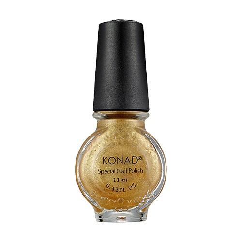 Stamping vernis Konad nail art Powdery Gold