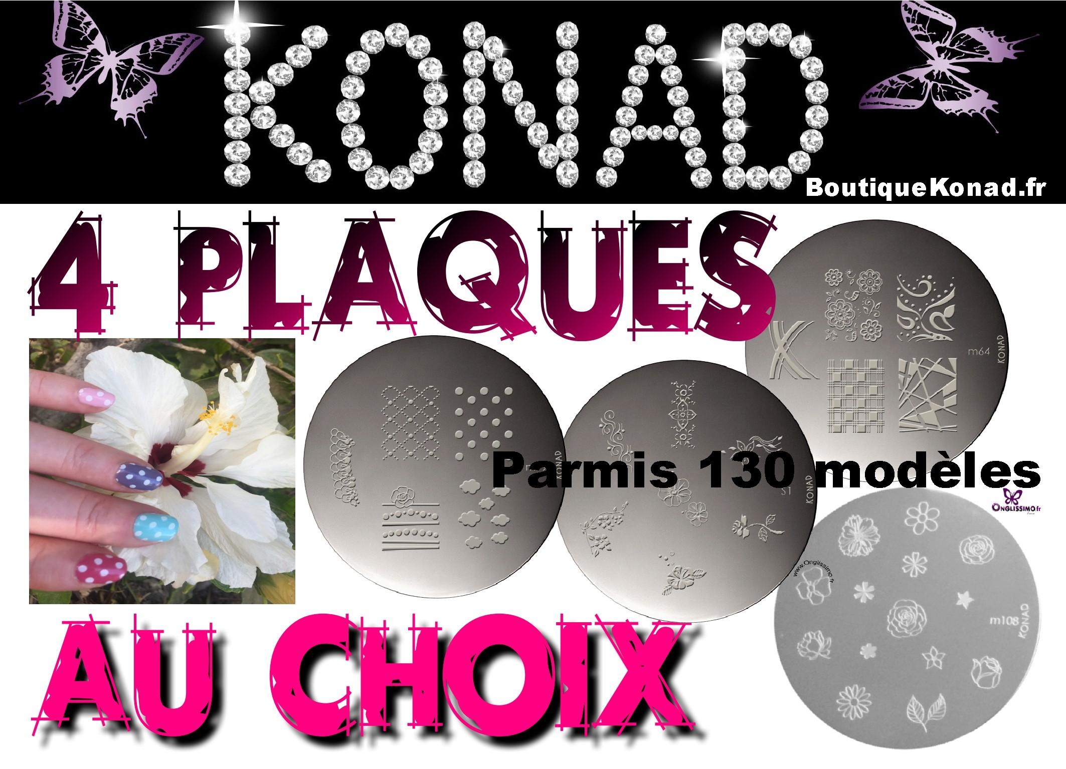 Plaques Stamping Konad Lot de 4 au choix AJOUTER