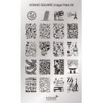 Plaque Konad Stamping Nail Art 9 voyage