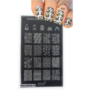 Stamping Plaque Konad Nail Art animaux 8