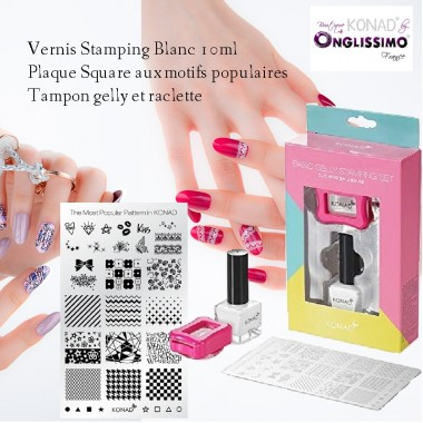 Basic Gelly Stamping Set Konad plaque square