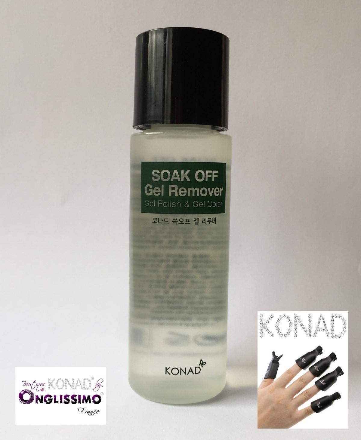 Dissolvant remover KONAD® pour gel & semi permanent