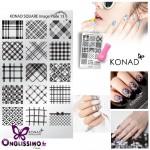 Stamping Effet tissus Plaque Konad SQ13