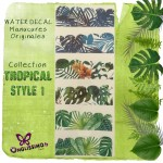 Water Decal Tropical 1 pour nail art