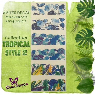 Water Decal Tropical 2 pour nail art