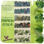 Water Decal Tropical 4 pour nail art