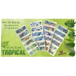 Water Decal 4 planches Tropical pour nail art