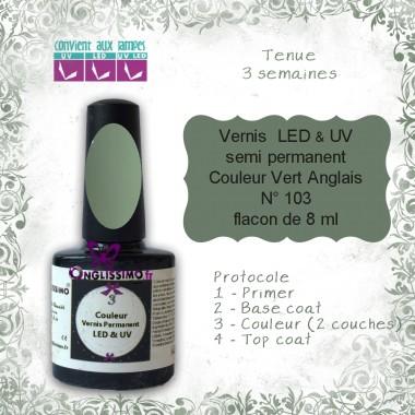 Vernis semi Permanent Vert Anglais ref103