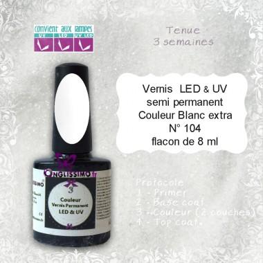 Vernis semi Permanent White ref104