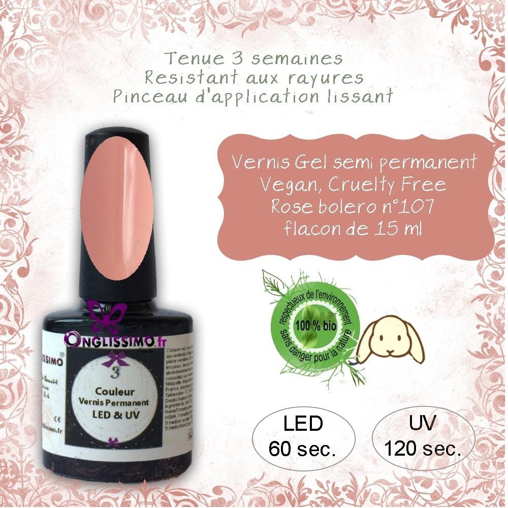 Vernis semi Permanent Vegan 107 Rose Boléro