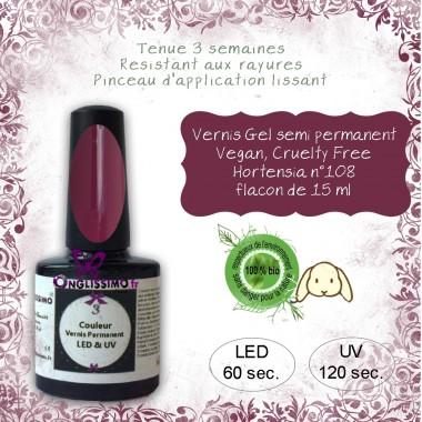 Vernis gel semi Permanent Vegan 108 Hortensia