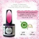 Vernis semi Permanent thermo white pink 123