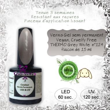 Vernis semi Permanent thermo grey white 124