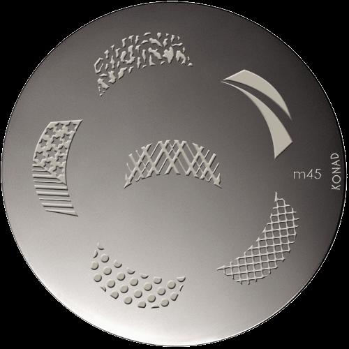 Plaque stamping Konad M45