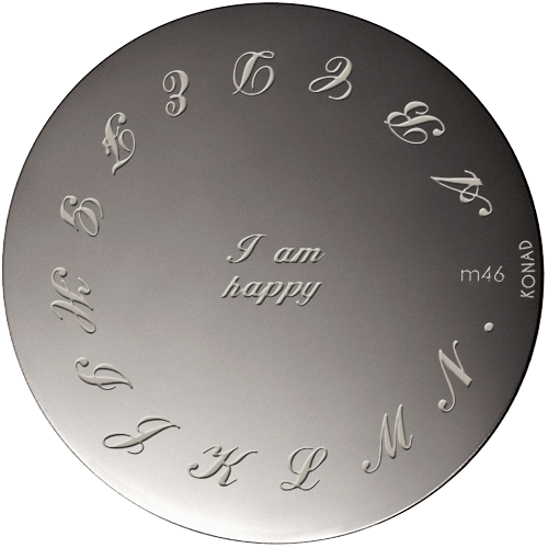 Plaque stamping Konad M46