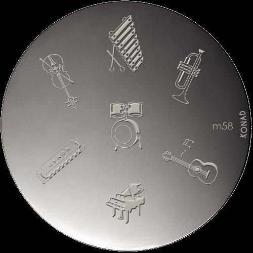 Plaque stamping Konad M58