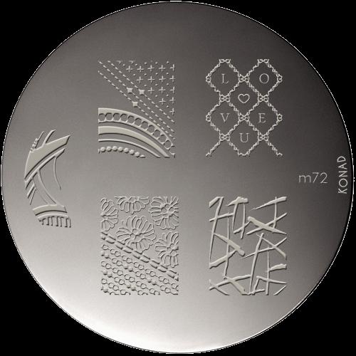 Plaque stamping Konad M72