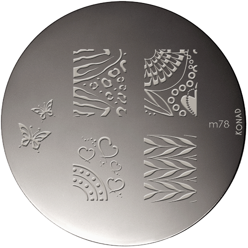 Plaque stamping Konad M78