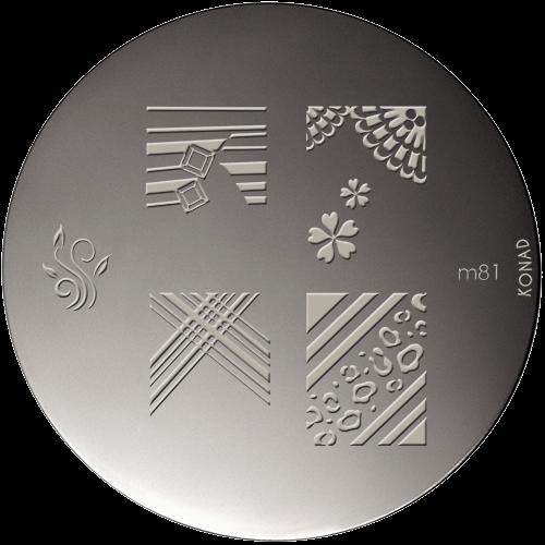 Plaque stamping Konad M81